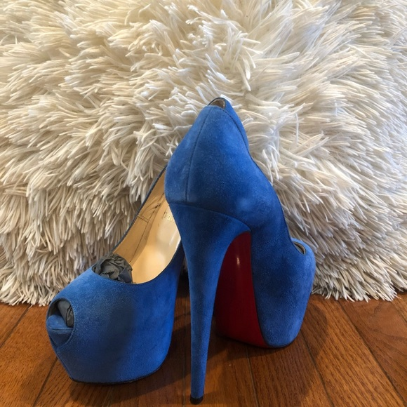 1bd8f17f7078 Christian Louboutin Shoes   Blue Sapphire Suede Highness   Poshmark